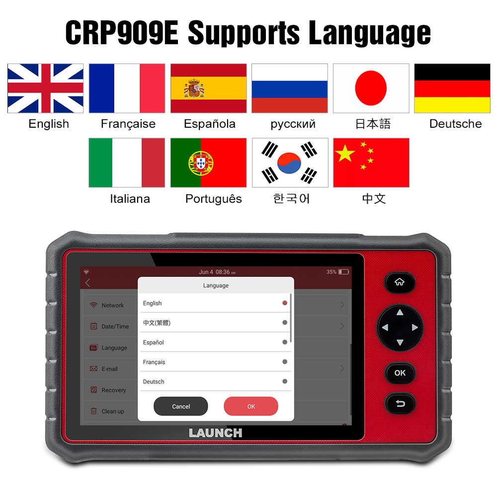 Uruchom X431 CRP909E pełny układ skaner diagnostyczny samochodu OBD2 + poduszka powietrzna SAS TPMS EPB IMMO 15 funkcja resetowania czytnik kodów CRP909