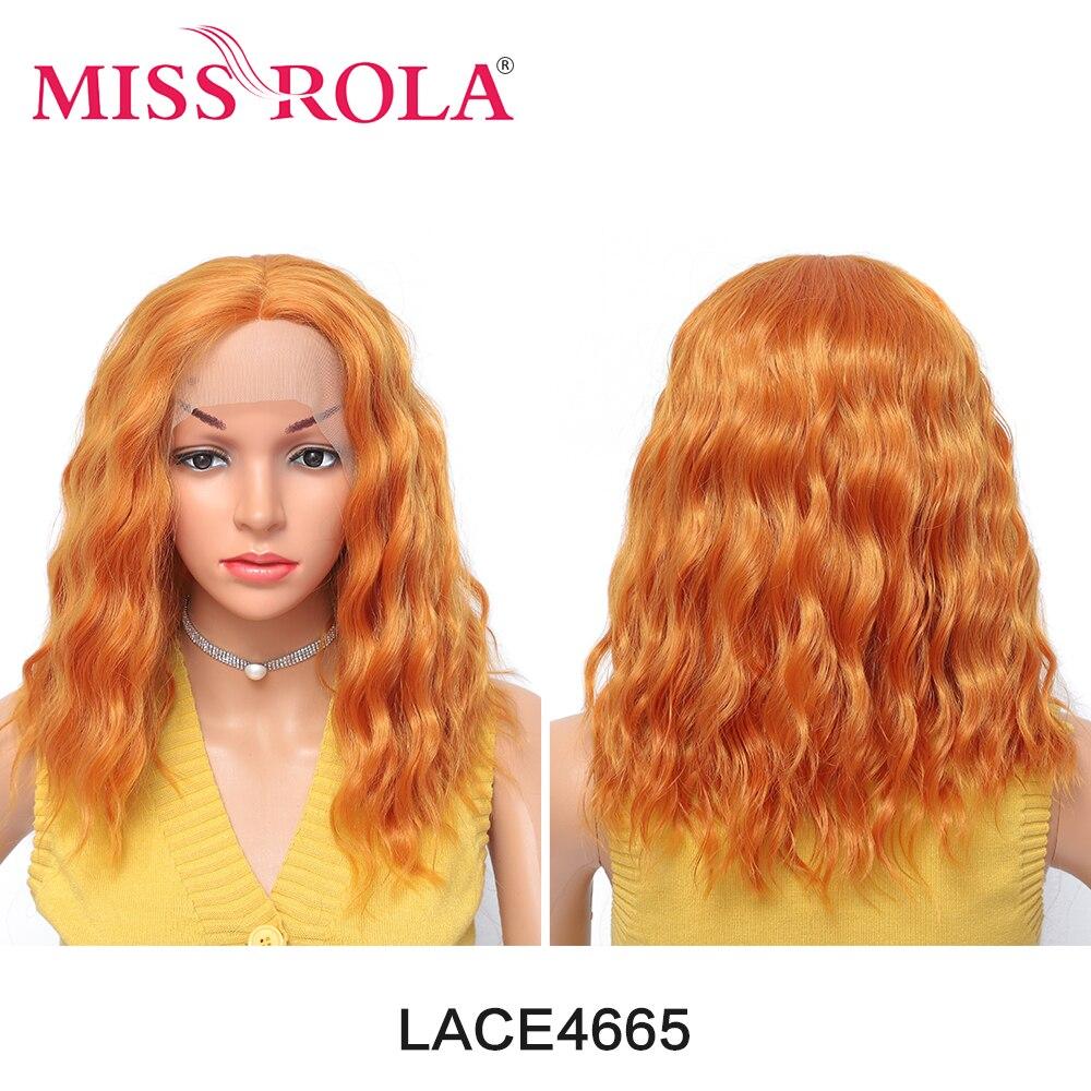 MISS ROLA – perruque synthétique longue et Deep Wave pour femmes, perruque Kanekalon Cosplay, faux cheveux noirs bruns Afro Wi