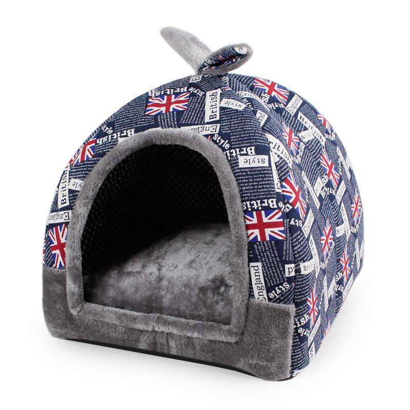 ホットフリースソフトペットパオホーム犬のベッド子犬犬小屋ペットベッドの家猫小動物ホーム犬小屋マットチワワ