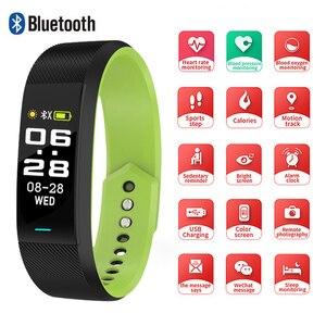 Image 1 - SKMEI Smart Bracelet Watch Sport Fitness Women Men Smart Wristbands Watch Bluetooth Single Touch reloj B25 For Android IOS