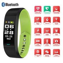 SKMEI akıllı bilezik izle spor spor kadın erkek akıllı bileklik İzle Bluetooth tek dokunmatik reloj B25 Android IOS için