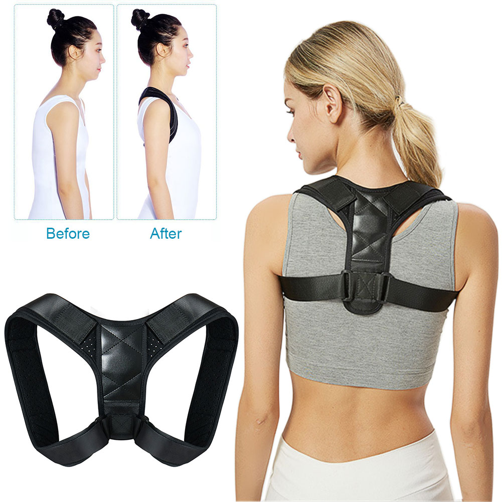 Unisex Cross Orthotics Breathable Adjustable Belt Pain Relief Posture Corrector Adult Shoulder Neck Hunchback Back Brace Lumbar