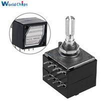Diymore – potentiomètre rotatif 100K LOG ALPS RH2702, Pot de contrôle de Volume Audio, stéréo W, VOLUME L