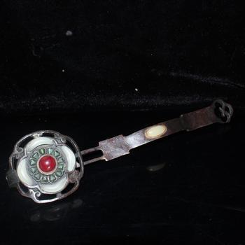 Exquisite retro beads inlaid with pure copper Ruyi