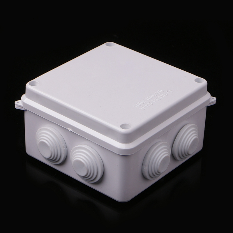 Waterproof Plastic Enclosure Case Power Junction Box IP65 100mm X 100mm X 70mm Connection Cable Box