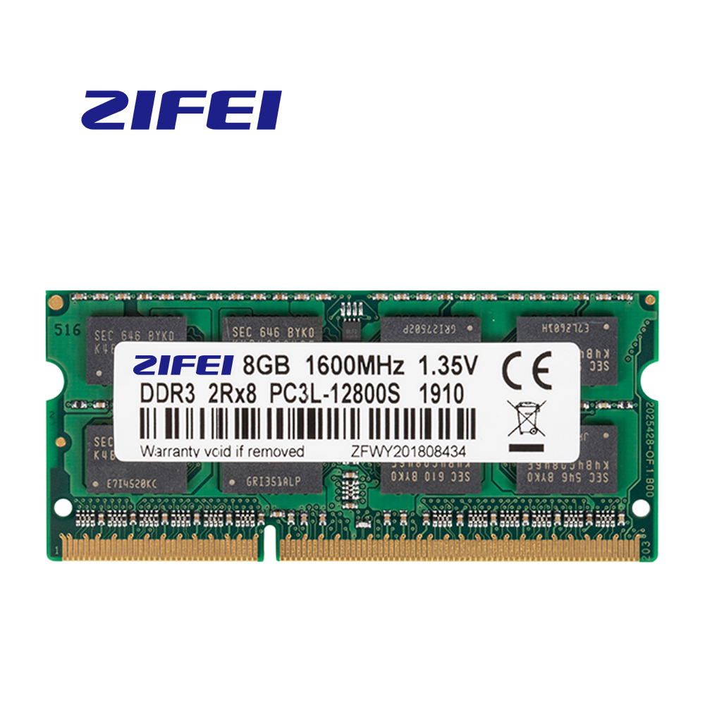 ZiFei ram <font><b>DDR3L</b></font> <font><b>4GB</b></font> 8GB 1866MHz 1600MHz 1333MHz 204Pin 1.35V SO-DIMM module Notebook memory DDR3 for Laptop image