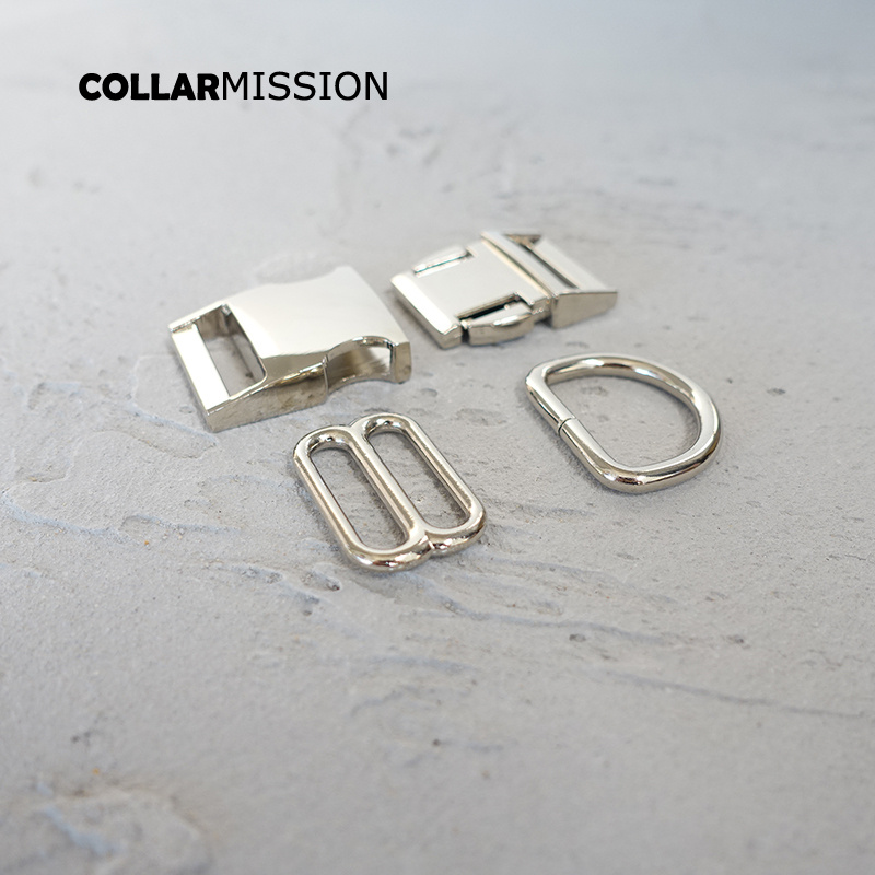 Silver WJUAN Metal Buckle 51 mm Belt Adjuster 33 mm Metal Buckles for Bracelets Dog Collars Backpack