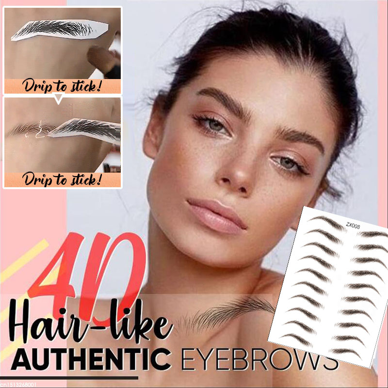 5PCS 4D Hair-like Eyebrow Tattoo Sticker 7 Day Long Lasting Super Waterproof False Eyebrows Makeup Eye Brow Stickers Cosmetics image
