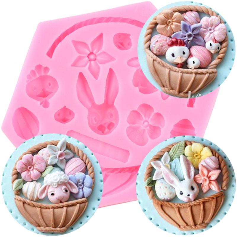 Duck Silicone Mold Birds Egg Basket DIY Cake Decorating Tools Cupcake Topper
