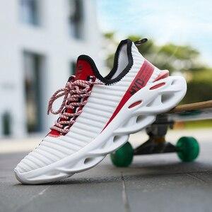 Image 2 - זוג נעלי ספורט קלאסי גברים של נעליים יומיומיות החלקה נעלי הליכה קל משקל Tenis Masculino אופנה Zapatos דה Hombre