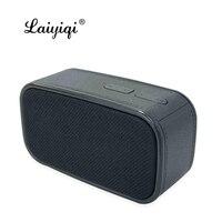 Laiyiqi popular mini Fabric art Bluetooth speaker square portable handle woofer FM radio wireless caixa som alto falante s5 dia