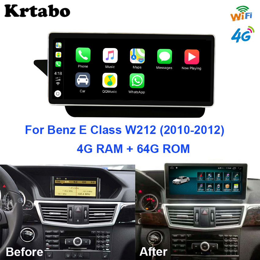 Car radio Android <font><b>multimedia</b></font> player For <font><b>Mercedes</b></font> Benz E Class <font><b>W212</b></font> 2010~2012 10.25 inch touch screen GPS Carplay image