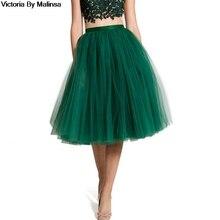 Falda de tul verde para mujer, falda de encaje secreto hasta la rodilla, tutú imperial para niña, faldas de tul talla grande 5XL 4XL personalizadas