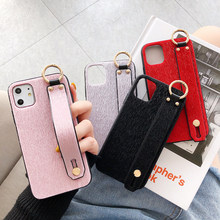 Winter Polsband Pluche Telefoon Case Voor iphone 11 Pro Max X XR XS Max 7 8 6 6S Plus Telefoon polsband Houder Cover Accessoires Tas(China)