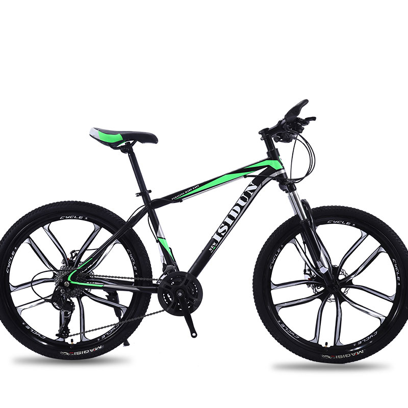 Mountain Bike Adult Speed Double Disc Brakes Damping Road One Round Ten Knife Students Men And Women Bicycle
