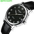 2020 SANDA модные мужские часы водонепроницаемые мужские часы Топ Бренд роскошные часы Relojes Hombre кожаный ремешок Relogio Masculino 189