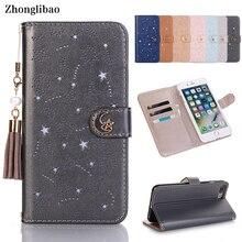 高級房の真珠中空iphone × 8 7 6 6sプラスxs最大xrかわいいスター月磁気財布 360 ブックカバー