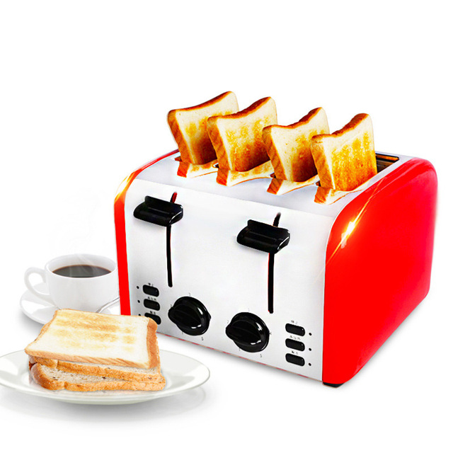 Commercial 4-slice Toaster Breakfast Machine Fully Automatic Toast Maker Household Bread Roasting Machine TR-2202 3