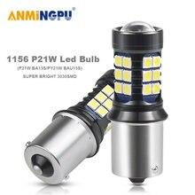 Anmingpu 2 шт сигнальная лампа p21w led 1156 ba15s bau15s 2835smd