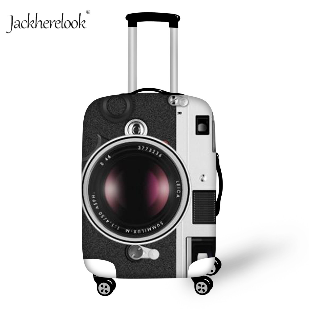 Jackherelook Funny Vintage Camera Suitcase Cover For Boy Girls Dust Proof Travel Luggage Accessories Thicken Baggage Case Cover