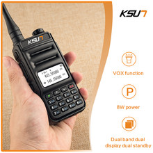 Walkie Talkie KSUN KS-UV2D 8W Ad Alta Potenza Dual Band Palmare Bidirezionale Ham Radio Communicator HF Ricetrasmettitore Amatoriale A Portata di mano(China)