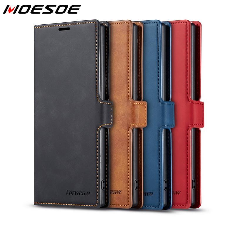 Magnet Leather Flip Wallet Case For Samsung Galaxy S20 Ultra Note 10 Plus A51 A71 A50 A70 S10 S9 S8 A30 A20 Stand Cover Case