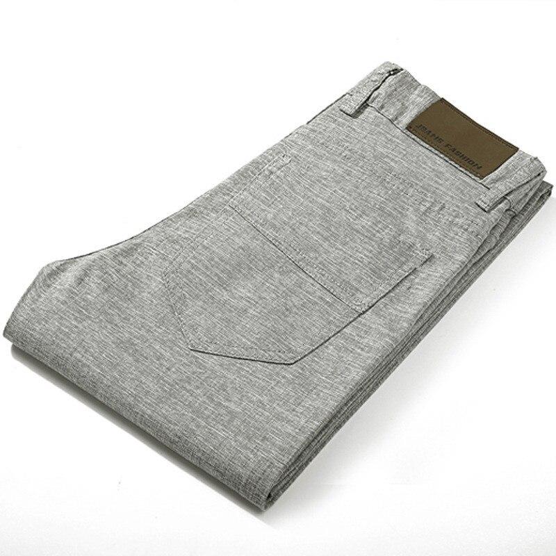 2020 High Quality Men's Linen Pants Men Casual Summer Thin Trousers Men Pantalones Male Pants Size 38
