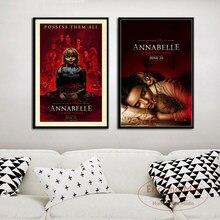 Annabelle geliyor ev film klasik korku serisi tuval boyama resimleri duvar soyut dekoratif ev dekor Plakat