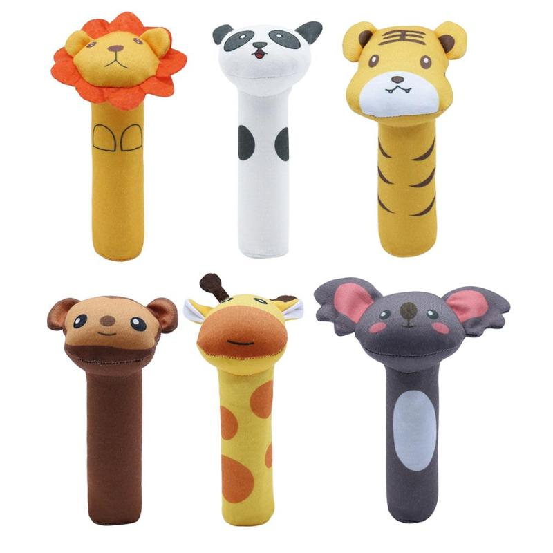 New Vocal Baby Toy Appease Rattle Newborn Hand Grab Rattle BB Stick Recommended Age More Than 3 Months Multiple Styles
