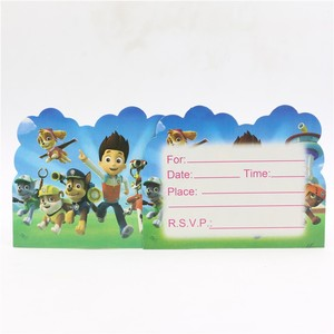 Image 2 - 106Pcs Paw Patrol Theme Baby Shower Boys Birthday Decoration Wedding Event Party Supplies Various Tableware Sets