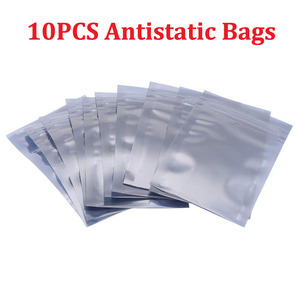 10pcs Antistatic Bags for Electronics Accessories Aluminum Storage Ziplock Resealable Pouch