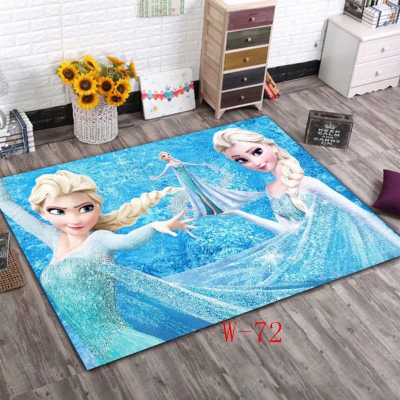 Disney Frozen Elsa Rugs For Kids Children Bedroom Home Living Room Carpet Floor Mat Large Modern Cute  Door Mats Outdoor Indoor
