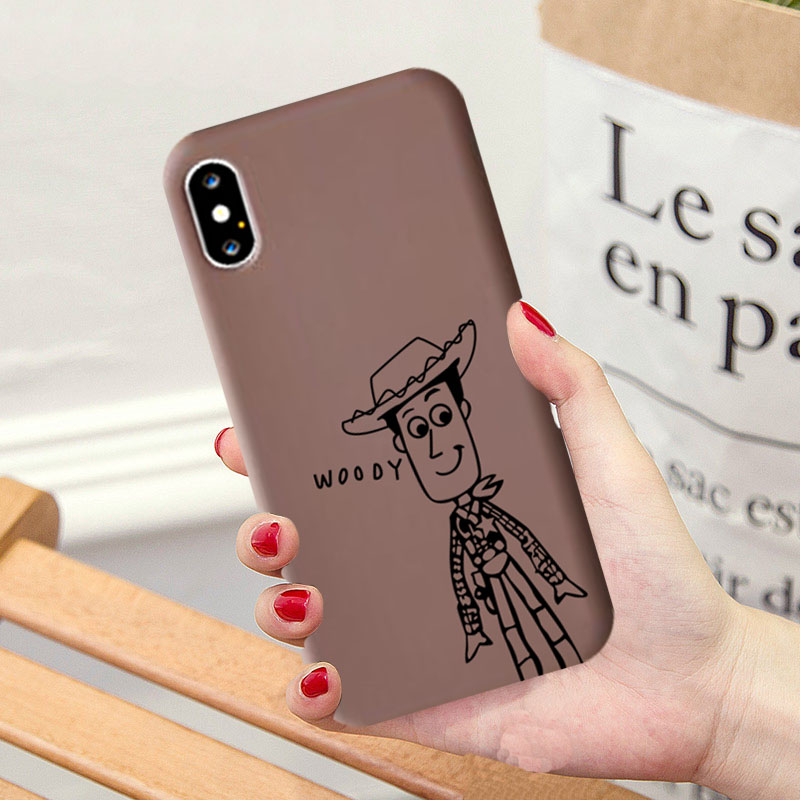 Jamular Cartoon <font><b>Toy</b></font> <font><b>Story</b></font> Buzz Woody Matte Phone Case for <font><b>Iphone</b></font> Xs MAX XR X <font><b>6</b></font> 6s 7 8 Plus Soft TPU Back Cover <font><b>Capa</b></font> Fundas image