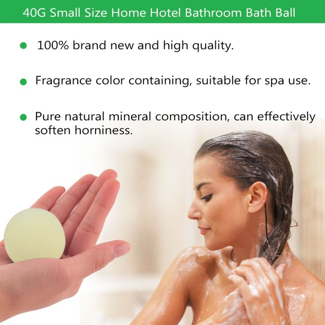 Small Size Home Hotel Bathroom Bath Ball Bomb Aromatherapy Type Body Cleaner Handmade Bath Salt Gift 40G Diameter: 4cm 2