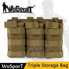 Высококачественная нейлоновая сумка wosport с тройным снаряжением