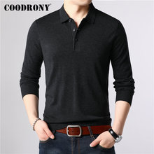 COODRONY Brand Sweater Men Classic Casual Turn-down Collar Pull Homme Cotton Wool Pullover Autumn Winter Soft Sweaters 91084