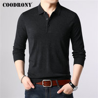COODRONY Brand Sweater Men Classic Casual Turn down Collar Pull Homme Cotton Wool Pullover Men Autumn Winter Soft Sweaters 91084