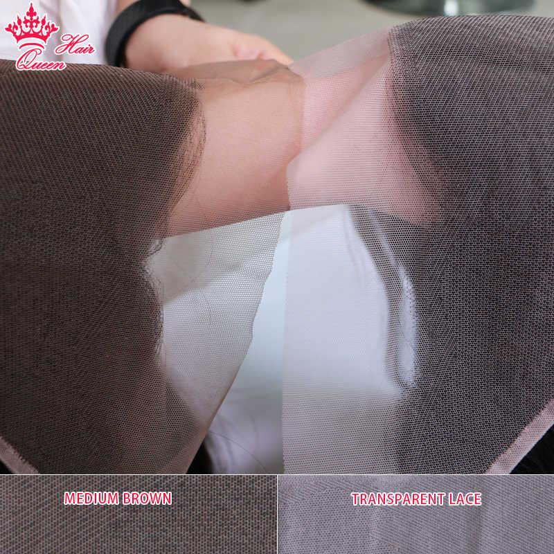 Cabelo brasileiro do virgin do fechamento 13x4 do laço transparente da onda do corpo dos produtos do cabelo da rainha cor natural 100% cabelo humano
