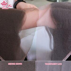 Image 2 - Kraliçe saç ürünleri vücut dalga şeffaf dantel Frontal kapatma 13x4 brezilyalı bakire saç doğal renk % 100% İnsan saç
