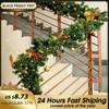 2.7 M Christmas Rattan Garland Decorative Green Christmas 2020 Garland Tree Rattan Hanging Pendant Drop Ornament Home Decoration