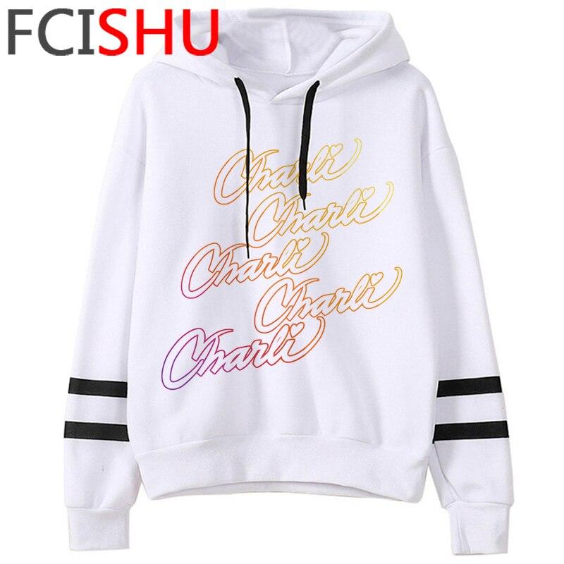 Fashion Charli Damelio Merch Ice Coffee Graphic Hoodies Women Harajuku Ullzang Funny Cartoon Sweatshirt Wimter Warm Hoody Female 11