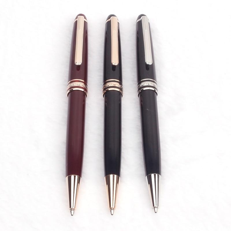 Роскошная Черная каучуковая шариковая ручка золотистые и Серебристые шариковые ручки для подписей