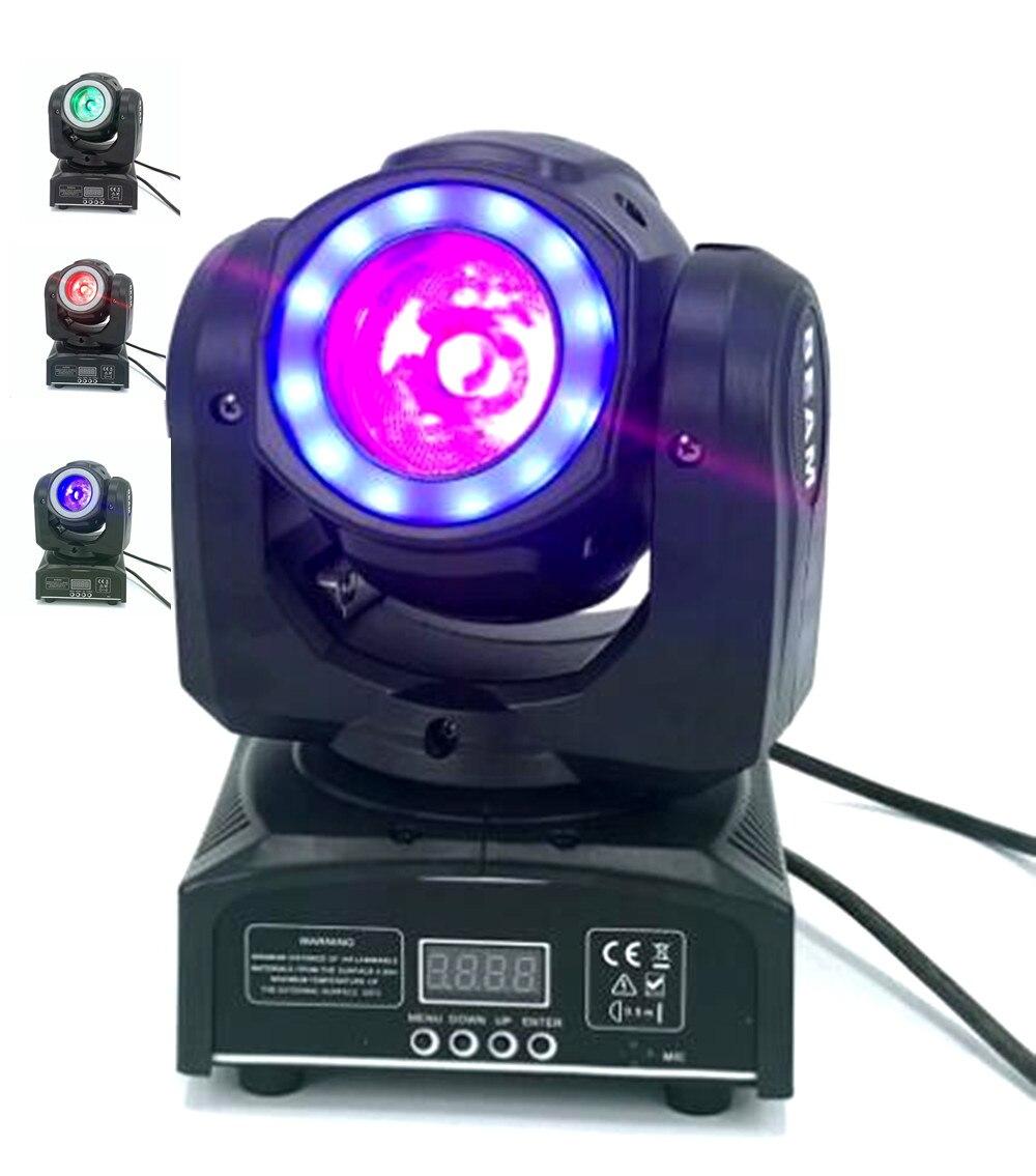 Iluminación DJ de mini cabeza móvil led 60W haz etapa led luz con 12LED SMD5050 RGB LED super brillante luz estroboscópica foco DMX control 55cm poste de barbería de iluminación rojo blanco azul de la raya de luz rayas señal pelo pared led colgante Downlights