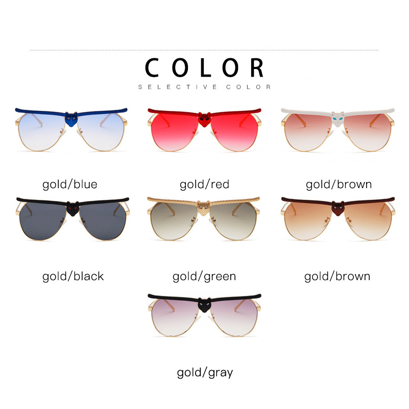 Image 5 - MEESHOW Women man Sunglasses 2020 Fashion Luxury High Quality Cat Head Frame Sunglasses INS Street Trendy rhinestone glassesWomens Sunglasses   -