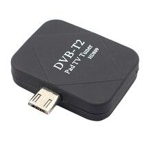 Chaud!! Micro Usb Dvb T2 Dvb T Mobile Tv Tuner récepteur numérique bâton pour Android téléphone Pad regarder en direct Tv Micro  Usb Tuner