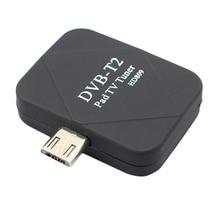 Hot!! Micro usb Dvb T2 dvb t sintonizador de tv móvel receptor digital vara para android telefone almofada assistir tv ao vivo micro sintonizador usb