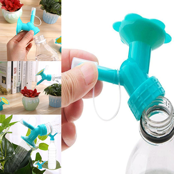 2 In1 Watering Sprinkler Plastic Irrigation Flower Plant Grass Waterers Bottle Nozzle Portable Garden Outdoor Watering Cans Head image