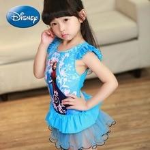 Disney Frozen new girl baby hot spring one-piece swimsuit cute one-piece princess dress swimsuit 8626