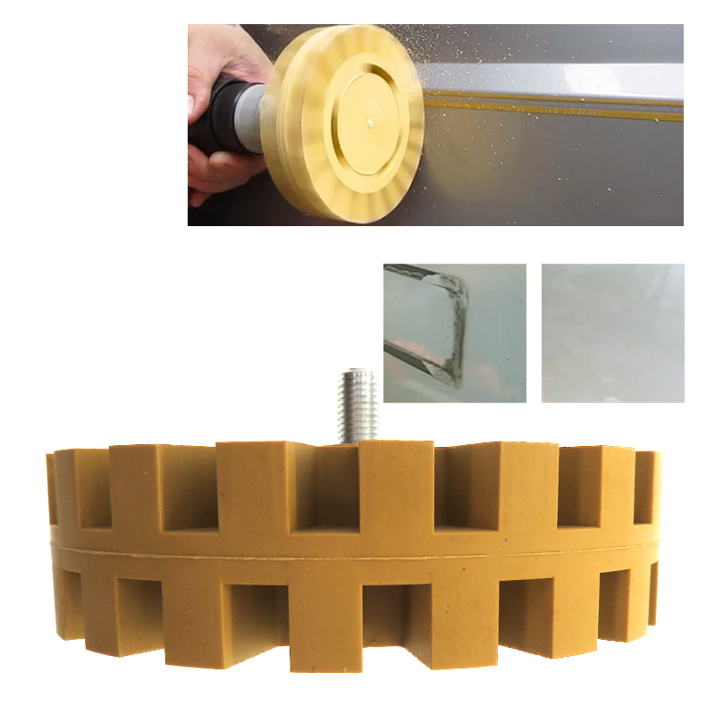 Car Polish Auxiliary Tool Pneumatic Rubber Eraser Wheel Pad Rubber Disk Decal Eraser Wheel Car Sticker Remover Paint Cleaner