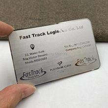 (100 шт/лот) металлические визитные карточки из нержавеющей